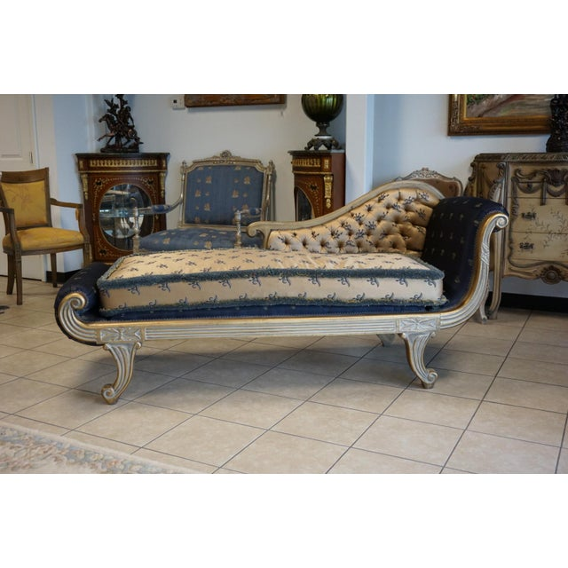 Vintage Hand Carved Chaise Lounge - Image 3 of 11