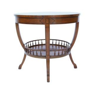 Biedermeier Style Round Fruitwood Side Table
