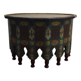 Hand Painted Moroccan Coffee Table