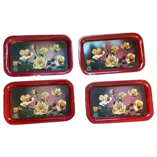 Vintage Rose Serving Trays - 4
