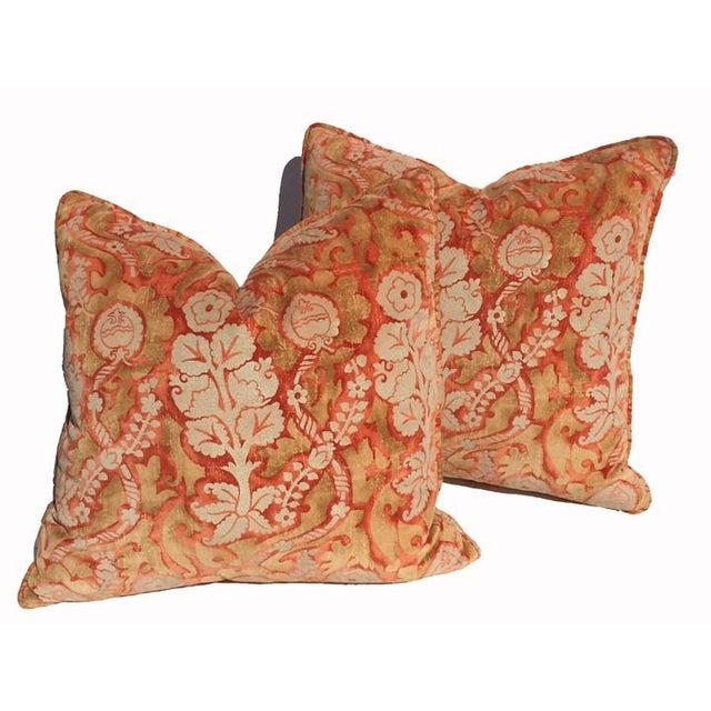 Designer Damask Velvet Pillows - Image 5 of 6