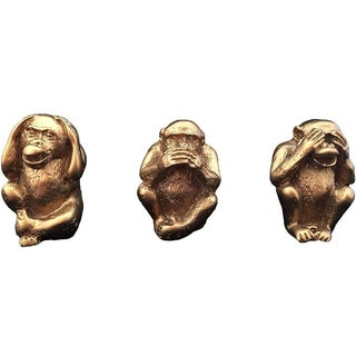 See, Hear, Speak No Evil Monkeys - Set of 3
