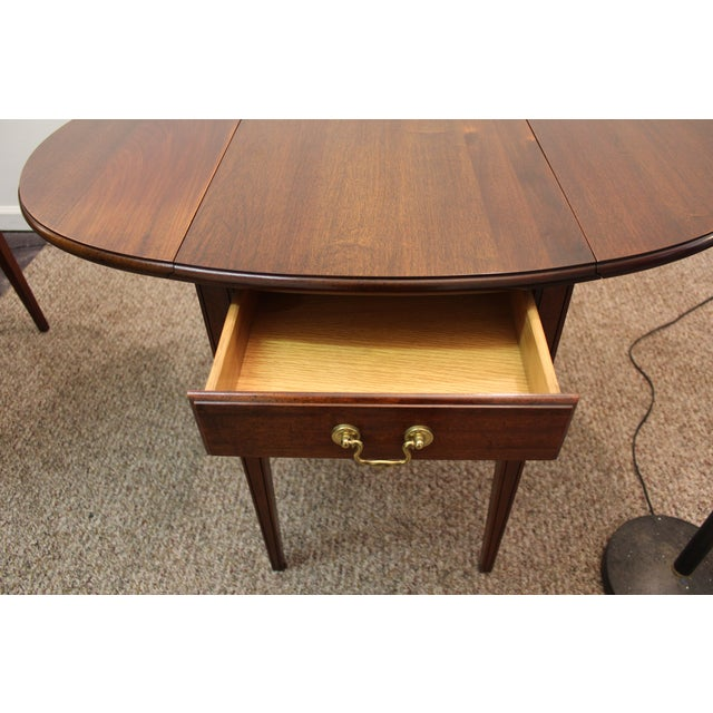 Image of Mahogany Pembroke Drop Leaf Side Tables - Pair