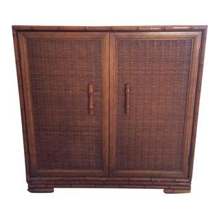 Faux Bamboo & Rattan 2-Door Cabinet