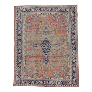 Vintage Oversized Turkish Oushak Rug - 8′10″ × 11′4″