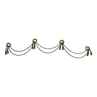 Vintage Twisted Rope Metal Curtain Valance.