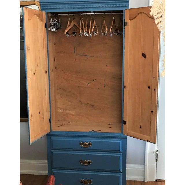 Image of Custom Hand-Painted Blue Wardrobe