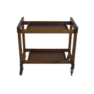 Mid Century Bar Cart & Tray