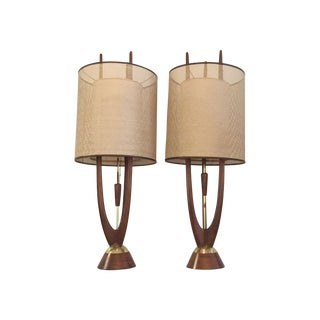 Modeline Sculptural Table Lamps - Pair