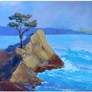 'The Lone Cypress' Painting