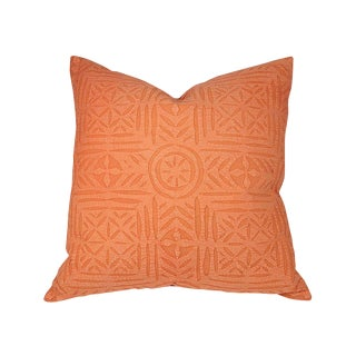 Orange Applique Pillow