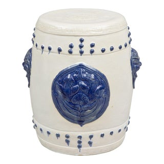 Chinese Blue & White Garden Seat