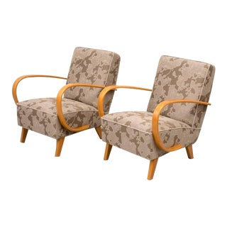 Pair of Jindrich Halabala Lounge Chairs