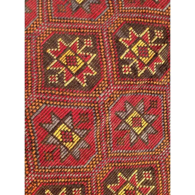 """Vintage Turkish Kilim Rug - 6'1"""" x 11'6"""" - Image 5 of 6"""