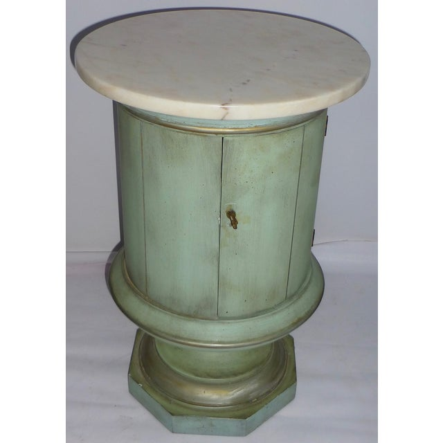 Image of Vintage Weiman Marble Topped Nightstand - Pair