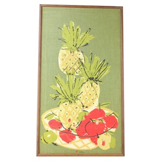 Framed Vera Art - Pineapples, Pears and Apples