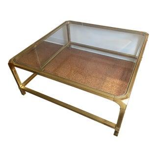 Mastercraft Brass & Glass Coffee Table