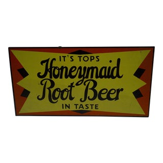 "1930's Vintage ""Honeymaid Root Beer"" Sign"