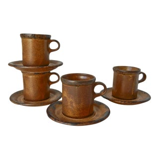 Brown McCoy Cup and Saucer Sets,