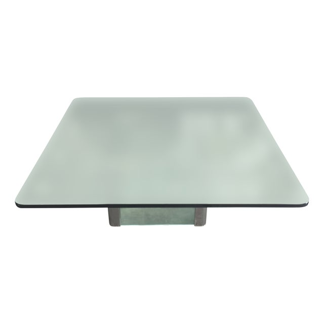 Modern Glass & Chrome Coffee Table - Image 1 of 9