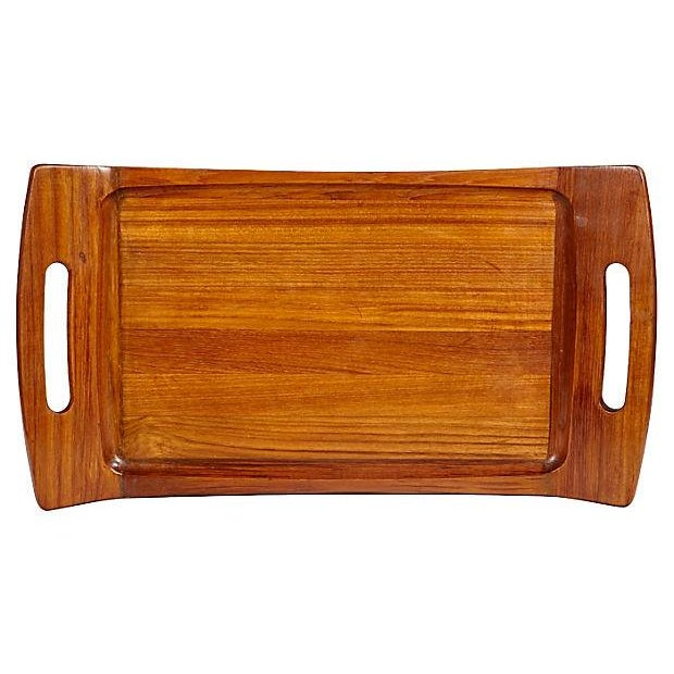 Image of Dansk Teak Wood Large Handled Tray