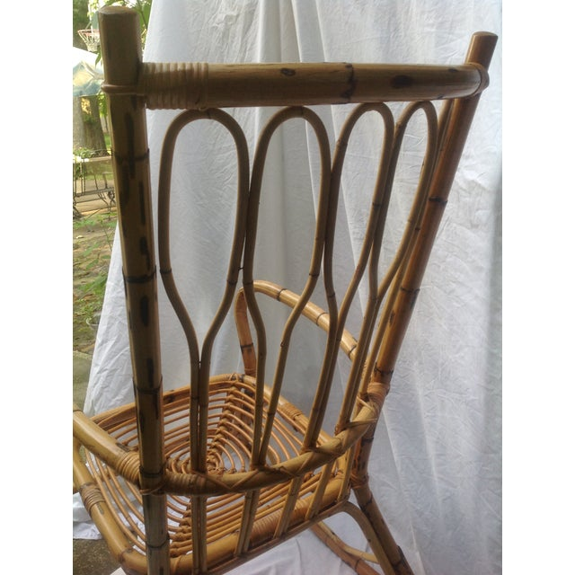 Mid-Century Ficks and Reed Style Bamboo Rocking Chair - Image 5 of 8