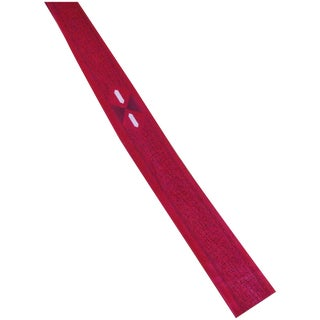 1950s Red Flat-Bottom Skinny Tie