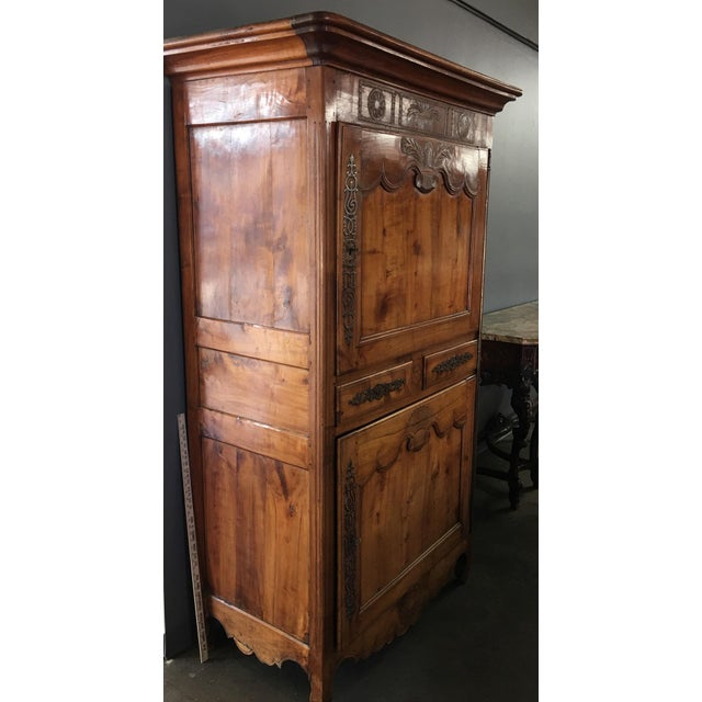 Antique 18th Century Fruitwood Bonnetiere - Image 4 of 8