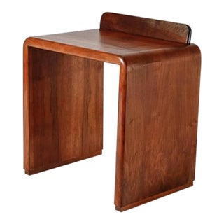 Art Deco Nutwood Side Table, Italy, 1930s