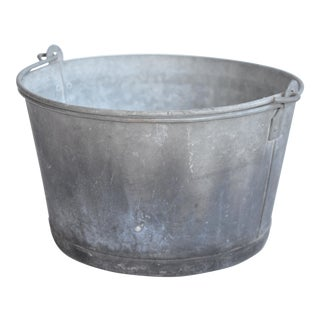 British Galvanized Bucket
