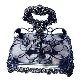 Silver Plate Condiment Holder