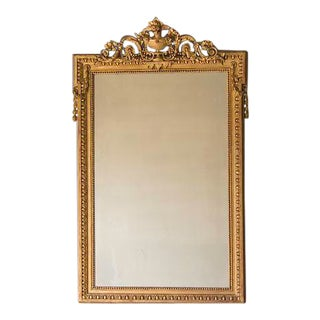 Napoleon III Style Gold Leaf Mirror, France c.1880 (40″w x 63″h)