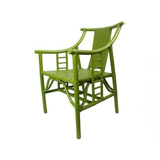 Chartreuse Bamboo Occasional Chair