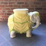 Image of Mid-Century Italian Ceramic Elephant Garden Stool