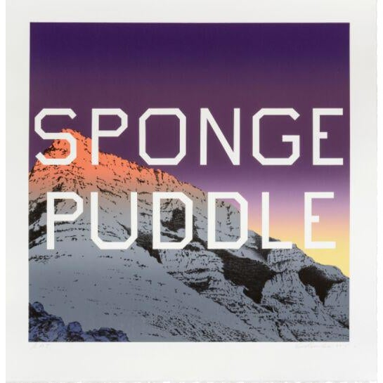 Sponge Puddle lithography by Ed Ruscha - Image 2 of 3