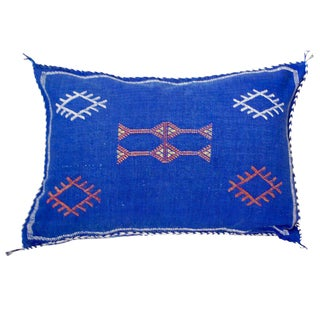 Moroccan Blue Indigo Throw Pillow