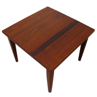 Mid-Century Teak Walnut & Rosewood Accent Table