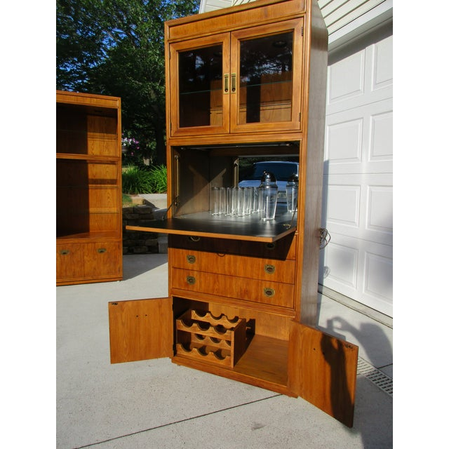 Drexel Heritage Campaign Style Bar Cabinet - Image 3 of 11