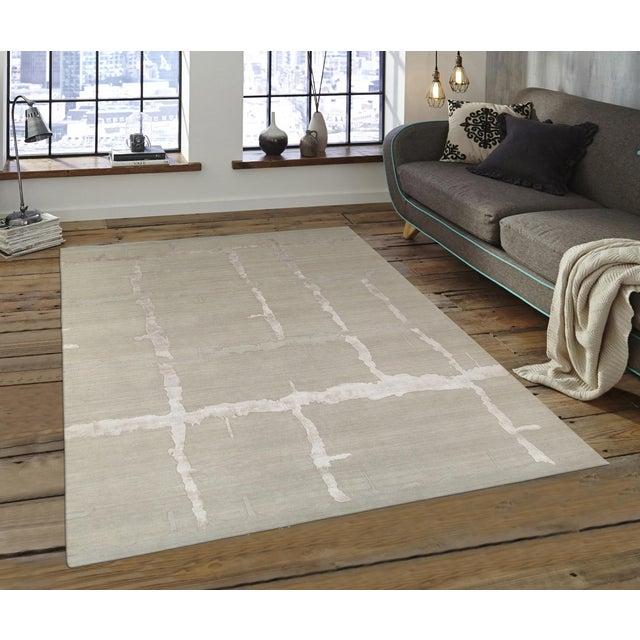 "Pasargad Modern Silk & Wool Rug - 8'0"" X 9'11"" - Image 4 of 4"