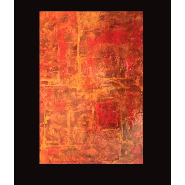 Image of Bryan Boomershine Red-Orange Abstract Painting