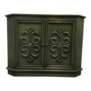 Contemporary Green Two-Door Sideboard