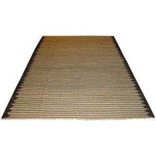 """Ivory Striped Kilim - 5'11"""" X 9'1"""""""