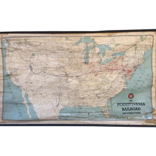 Vintage Pennsylvania Railroad and Connections Map