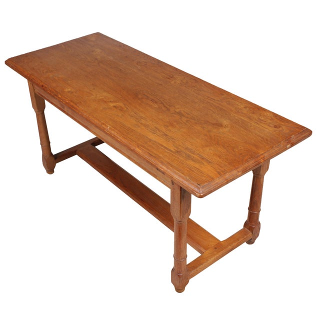 Oak Trestle Coffee Table Chairish