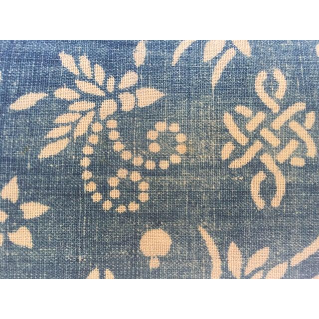 Image of Indigo Batik Bamboo & Butterfly Pillow