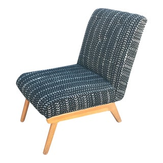 1950s Mudcloth Slipper Chair