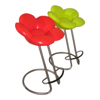 M. Umeda for Edra Red & Yellow Soshun Stools - A Pair