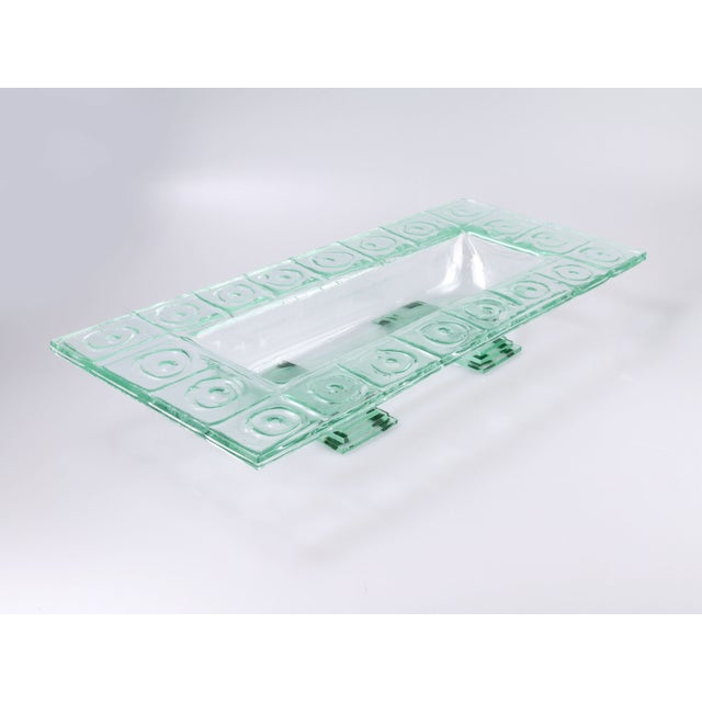 Floating Green Glass Centerpiece Tray - Image 2 of 11