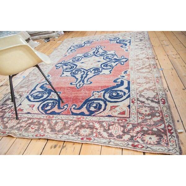 "Distressed Oushak Carpet - 6' X 9'4"" - Image 6 of 10"