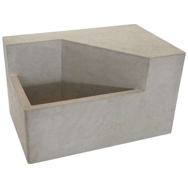 The Scarpa I Cast Concrete Bench or Planter - Image 1 of 6